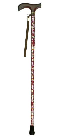 ウェルファン 夢ライフステッキ ショート柄折りたたみ伸縮杖 長さ63~73cm 身長約120~140cm