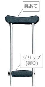 レッドドットクラッチ 松葉杖(2本1組)の説明