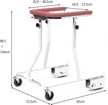折りたたみ式歩行車 油圧抵抗器付き TY157YBの説明