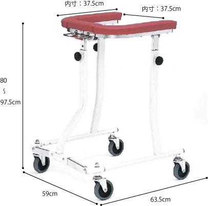 折りたたみ式歩行車 四輪自在 TY157Fの説明
