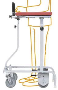 折りたたみ式歩行車 連動ブレーキ付き 在宅タイプ TY157RHB-SLの説明