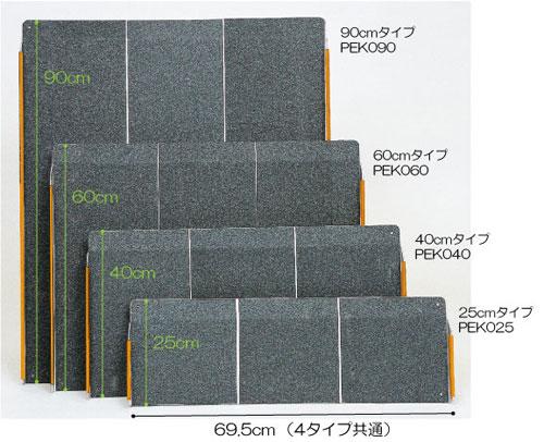 ポータブルスロープエッジ付1枚板のサイズ