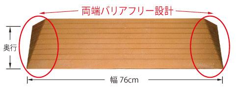 段差解消スロープ ダイヤスロープ 幅75高さ35cm DS35の説明