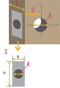 reレバーハンドル空錠 HG・ABの説明