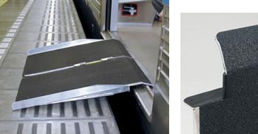 電車用ポータブルスロープ PVR060 長さ60cm2つ折りタイプの説明