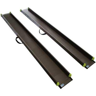 軽々スロープ 2本1組 SS105(105cm) 屋外用スロープ 対応段差高さ:約8〜16cm