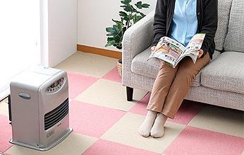 床暖房の上でも使用できます