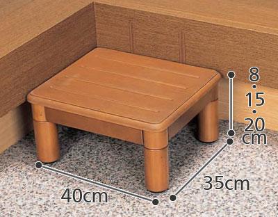 ソパナソニック 木製玄関ステップ 1段 400  VALSMG400 玄関台・式台の寸法図