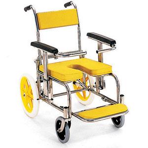 シャワー車いす 病院・施設用 KS2 シャワーキャリー 穴あきシート