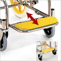 シャワー車いす 病院・施設用 KS2 シャワーキャリー 穴あきシートの説明
