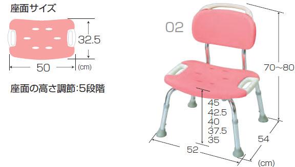 やわらかシャワーチェア 背もたれ付ワイドの使用説明