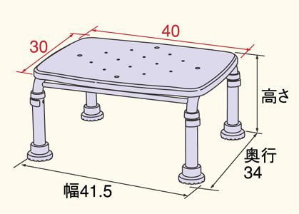 ステンレス製浴槽台Rあしぴたシリーズ天板サイズ標準20-30 サイズ