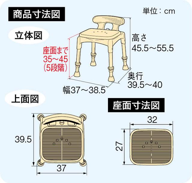 シャワーベンチセレクトMiniのサイズ
