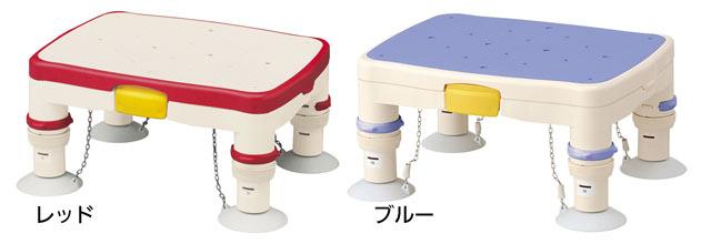 高さ調節浴槽台Rかるぴったんのカラーはレッドとブルーからお選びいただけます。