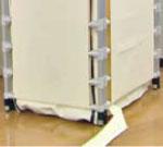 簡易浴槽 湯っとりあ シャワーキャリーパネル型 ステンレスの使用例