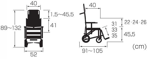 ティルト&リクライニングシャワー車いす ぴったりフィットKS11-PFの説明
