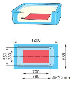 中:和洋折衷タイプの浴槽