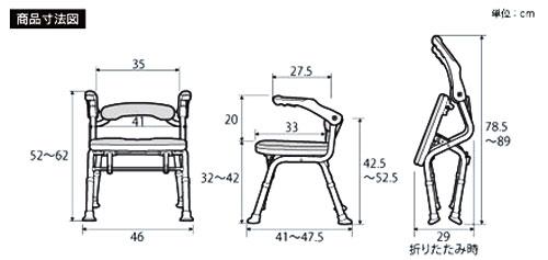 折りたたみシャワーベンチ ISフィット 骨盤サポートタイプの説明