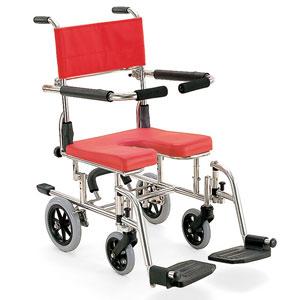 シャワー用車椅子 座面高さ調節式シャワーキャリー KS10 U字座面