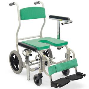 シャワー用車椅子 座・背もたれシート着脱式シャワーキャリー KS12
