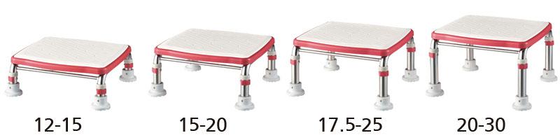 ステンレス製浴槽台Rあしぴたシリーズサイズジャスト12-15