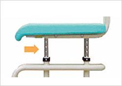 シャワーキャリー ラージキャスタータイプ CAK-310/CAK-310F お風呂用車椅子