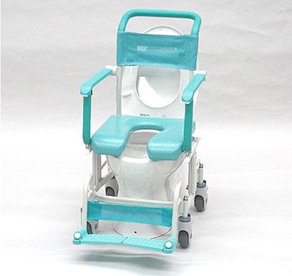 シャワーキャリー トイレットタイプ 4輪自由車 CAK-410 お風呂・トイレ用車椅子