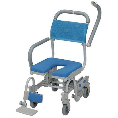 ウチエ シャワーラク四輪自在V シャワーキャリー・入浴用車椅子の説明