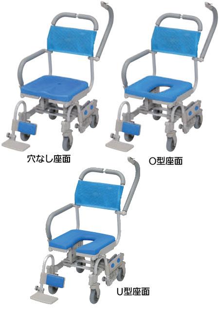 ウチエ シャワーラク四輪自在V シャワーキャリー・入浴用車椅子 のタイプ