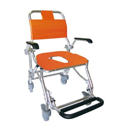 睦三折りたたみシャワーキャリーLX-2(5022) 水回り(トイレ・お風呂)用車椅子