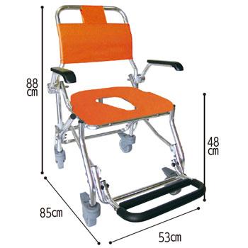睦三折りたたみシャワーキャリーLX-2(5022) 水回り(トイレ・お風呂)用車椅子 のカラー