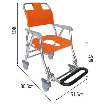 睦三折りたたみシャワーキャリーLX(5002) 水回り(トイレ・お風呂)用車椅子 のカラー