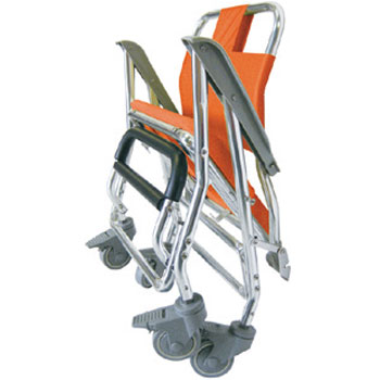 睦三折りたたみシャワーキャリーLX(5002) 水回り(トイレ・お風呂)用車椅子