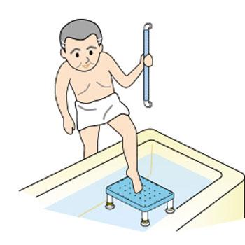 ダイヤタッチ浴槽台 吸盤付 コンパクトサイズ 高さ10〜15cm・15〜25cm