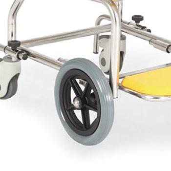 簡易シャワー車いす 低床タイプシャワーキャリー前輪8インチ KSC-2/ST カワムラサイクル