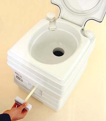 ビザ・ポータブル水洗トイレ potty(ポッティー) 24Lタイプ トイレレバー操作
