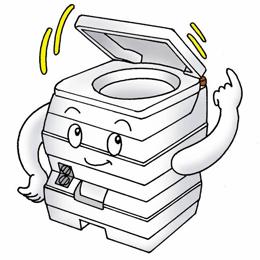 ビザ・ポータブル水洗トイレ potty(ポッティー) 24Lタイプ 繰り返し使用