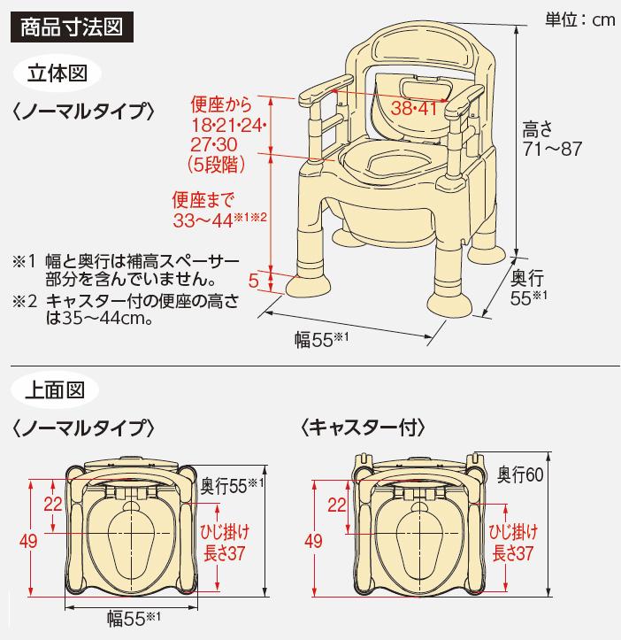 ポータブルトイレFX-CP<ちびくまくん>