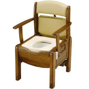 木製ポータブルトイレ きらくF 標準タイプ 脱臭器付