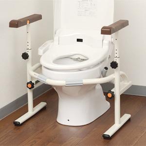 洋式トイレ用スライド手すり ステンレス フレームタイプ PN-L53001
