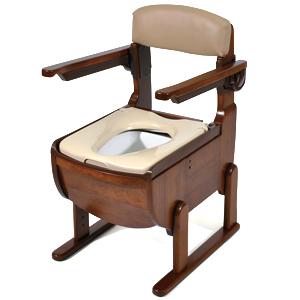 家具調ポータブルトイレ スリムレット 標準便座