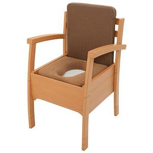 家具調ポータブルトイレ アクアポッテ標準タイプ TLF01 プラスチック製