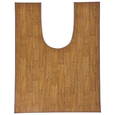 木目調トイレ用マット ワイドロング 樹脂素材 80×120cm