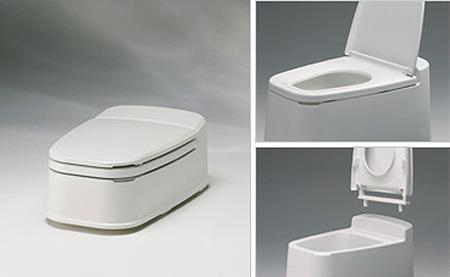 リフォームトイレ両用式 和式を洋式にする便器の説明