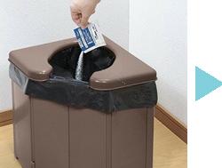 ータブルコーナートイレ 非常用簡易トイレ