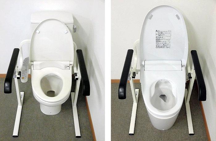 トイレのお手入れの邪魔になりません