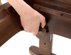 座面の高さ調節簡単