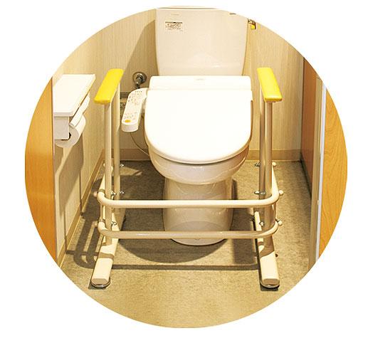 トイレ補助手すり TB-1426 洋式トイレ手すりフレーム型