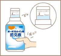 ハビナース ポータブルトイレ用消臭液 4本セット(1本約30回分)