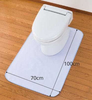 消臭達人 簡易トイレ用防水マット ポータブルトイレ用マット  のサイズ
